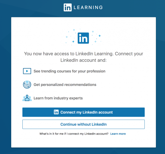 Connect LinkedIn Account