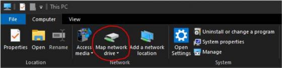 Windows 10 - Map network drive